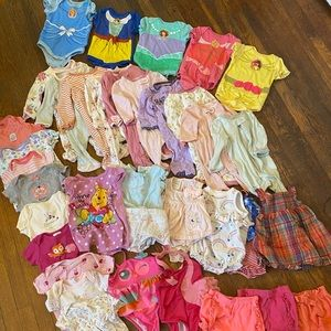Huge 0-3month girl lot with Disney Baby